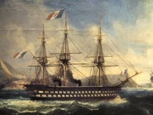 The Napoleon At Toulon in 1852 by Lauvergne